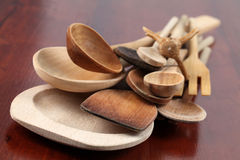 Colheres de madeira Foto de Stock Royalty Free