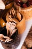 Colheres de madeira Fotos de Stock Royalty Free
