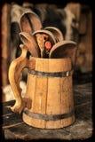 Colheres de madeira Imagem de Stock