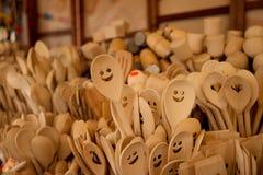 Colheres de madeira Fotografia de Stock