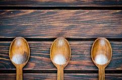 Colheres de madeira Fotos de Stock
