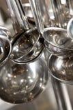 Colheres de prata Imagem de Stock Royalty Free