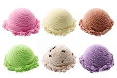 Colheres do gelado Imagens de Stock Royalty Free