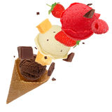 Colheres do gelado Fotografia de Stock