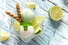 Colheres do gelado Fotos de Stock