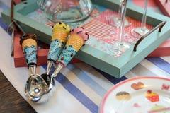 Colheres do gelado Imagem de Stock Royalty Free