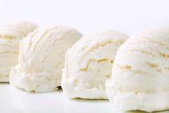 Colheres do gelado branco Foto de Stock