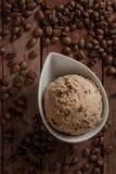 Colheres do gelado, café Fotos de Stock Royalty Free