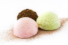Colheres do gelado isoladas Imagem de Stock