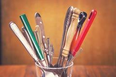 Colheres e forquilhas velhas Fotografia de Stock Royalty Free