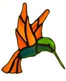 Colibri do vidro manchado Fotos de Stock Royalty Free