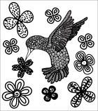 Colibri e flor Imagem de Stock
