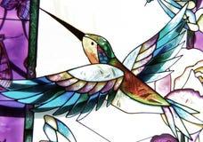 Colibri en verre Photographie stock libre de droits