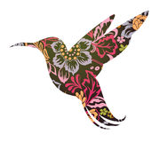 Colibri ornamental tattoo Stock Images