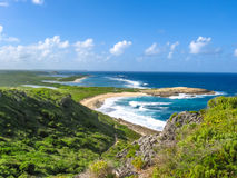 Colibris Point Guadeloupe. Spectacular panoramic view from Castle Point on Colibris Point, located on extreme east of the mainland 11 km from Saint-Francois in Stock Photos