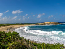 Colibris-Punkt-Strand Guadeloupe lizenzfreies stockbild