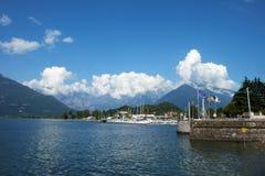 Colico, lago Como immagini stock