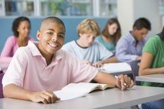écolier de lycée de classe Image stock