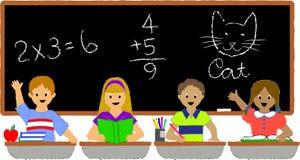 Écoliers Classroom/ai Photos stock