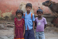 Écoliers indiens heureux Photo stock
