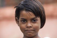 Écoliers indiens heureux Photo libre de droits