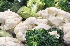Coliflor y bróculi Fotografía de archivo libre de regalías