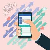 Coligação social móvel Fotos de Stock