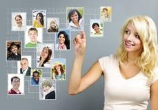 Coligação social Fotos de Stock Royalty Free