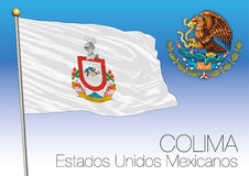 Colima regional flag, United Mexican States, Mexico Royalty Free Stock Photography