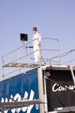 Colin Braun, das auf Rennen-Schlussteil steht Lizenzfreie Stockfotografie