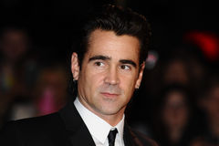 Colin Farrell. Arrives for the premiere of 'Saving Mr.Banks' which is being screened at the Odeon Leicester Square as part of the bfi London Film Festival 2013 royalty free stock photos
