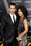 Colin Farrell and Claudine Farrell Stock Photo