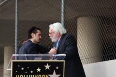 Colin Farrell, Donald Sutherland lizenzfreies stockfoto