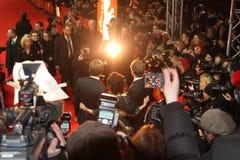 Colin Firth, Helena Bonham Carter en directeur aan Royalty-vrije Stock Afbeeldingen