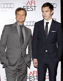 Colin Firth and Nicholas Hoult Royalty Free Stock Image