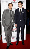 Colin Firth and Nicholas Hoult Stock Photos