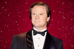 Colin Firth wax figure Stock Photos