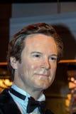 Colin Firth wosku postać przy Madame Tussauds muzeum w Londyn Zdjęcia Royalty Free