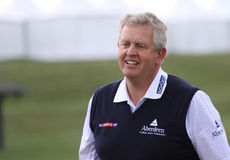 Colin Montgomerie no golfe de aberto France Fotos de Stock Royalty Free