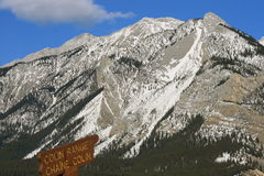 Colin Range, Jasper, Canada. Jasper national park covered by snow, alberta, canada Royalty Free Stock Photography
