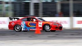 Colin Teo drifting at Formula Drift Championship stock image