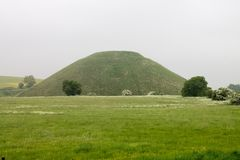 Colina Avebury Kindom unido Wiltshire de Silbury foto de archivo libre de regalías