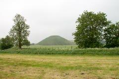 Colina Avebury Kindom unido Wiltshire de Silbury imagen de archivo