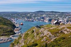 Colina céntrica NL Canadá de la señal del puerto de St Johns Imágenes de archivo libres de regalías