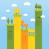 Colina colorida de Infographic Fotografía de archivo libre de regalías