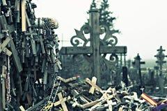 Colina cruzada lituana   Foto de archivo libre de regalías