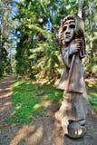 Colina de brujas Juodkranté lituania Imagen de archivo