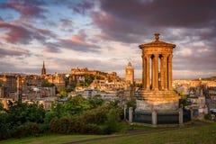 Colina de Calton, Edimburgo, Escocia foto de archivo libre de regalías