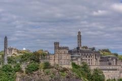 Colina de Calton edimburgo escocia Fotos de archivo libres de regalías