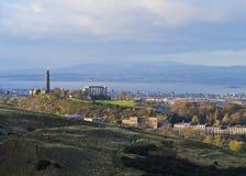 Colina de Calton en Edimburgo Imagen de archivo libre de regalías
